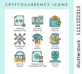 cryptocurrency icons concept... | Shutterstock .eps vector #1111102313