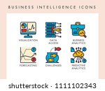 business intelligence concept... | Shutterstock .eps vector #1111102343
