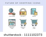 future of shopping concept... | Shutterstock .eps vector #1111102373
