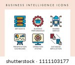 business intelligence concept... | Shutterstock .eps vector #1111103177