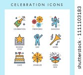 celebration icons for web  app  ... | Shutterstock .eps vector #1111103183