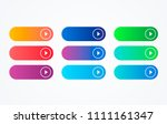colorful button set on white...