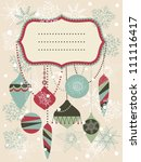 Retro Christmas Background Wit...