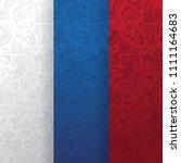 design of russia 2018 vector... | Shutterstock .eps vector #1111164683