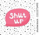 vector illustration  big pink... | Shutterstock .eps vector #1111171493