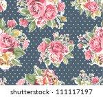 seamless pink vintage rose...   Shutterstock .eps vector #111117197