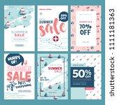 set of mobile summer sale... | Shutterstock .eps vector #1111181363