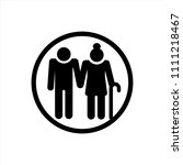 elderly people icon in trendy... | Shutterstock .eps vector #1111218467