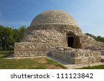 The ancient mausoleum built of natural stone - stock photo