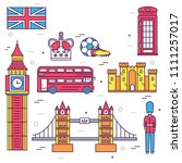 country england travel vacation ... | Shutterstock . vector #1111257017