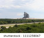 a spacecraft on the launchpad ... | Shutterstock . vector #1111258067