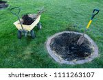 digging out a small dead tree... | Shutterstock . vector #1111263107