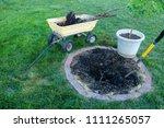 backyard maintenance removing... | Shutterstock . vector #1111265057