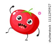 red tomato is dancing | Shutterstock .eps vector #1111295927