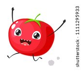 red tomato is running | Shutterstock .eps vector #1111295933