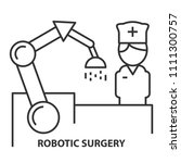 nurse on robotic surgery in... | Shutterstock .eps vector #1111300757