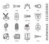 set of 16 icons such as spatula ...