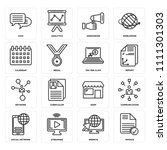 set of 16 icons such as invoice ...