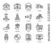 set of 16 icons such as heart... | Shutterstock .eps vector #1111304843