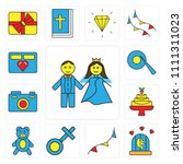 set of 13 simple editable icons ... | Shutterstock .eps vector #1111311023