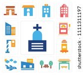 set of 13 simple editable icons ... | Shutterstock .eps vector #1111311197