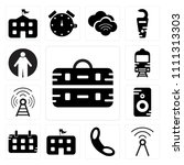 set of 13 simple editable icons ... | Shutterstock .eps vector #1111313303