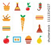 set of 13 simple editable icons ... | Shutterstock .eps vector #1111314227