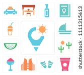 set of 13 simple editable icons ... | Shutterstock .eps vector #1111315613
