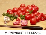Cooking from tomatoes - stock photo