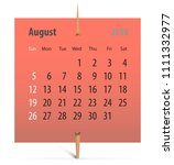 Calendar For August 2018 On A...