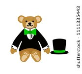 a cute lovely teddy bear toy. a ... | Shutterstock .eps vector #1111335443