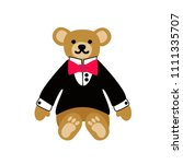 a cute lovely teddy bear toy. a ... | Shutterstock .eps vector #1111335707