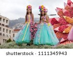 funchal  madeira  portugal  ... | Shutterstock . vector #1111345943