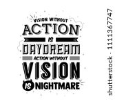 vision without action is... | Shutterstock .eps vector #1111367747
