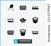 botany icon. collection of 9... | Shutterstock .eps vector #1111379567