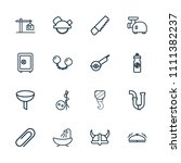steel icon. collection of 16... | Shutterstock .eps vector #1111382237