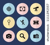 set of 9 focus filled icons... | Shutterstock .eps vector #1111392557