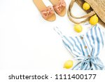 summer female fashion stylish... | Shutterstock . vector #1111400177