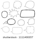 hand drawn vector set with... | Shutterstock .eps vector #1111400357