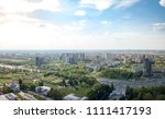 the panoramic bird's eye view... | Shutterstock . vector #1111417193