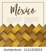 traditional colorful mexican... | Shutterstock .eps vector #1111423013