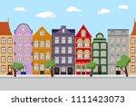 seamless border of cute retro...   Shutterstock .eps vector #1111423073