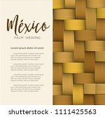 traditional colorful mexican... | Shutterstock .eps vector #1111425563