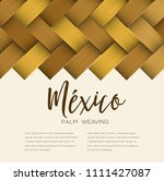 traditional colorful mexican... | Shutterstock .eps vector #1111427087