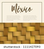 traditional colorful mexican... | Shutterstock .eps vector #1111427093