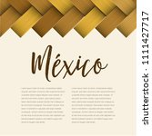 traditional colorful mexican... | Shutterstock .eps vector #1111427717