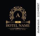 luxury logo template in vector... | Shutterstock .eps vector #1111448387