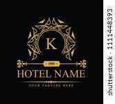 luxury logo template in vector... | Shutterstock .eps vector #1111448393