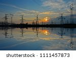 the power supply facilities of... | Shutterstock . vector #1111457873