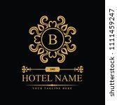 luxury logo template in vector... | Shutterstock .eps vector #1111459247